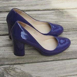 Via Spiga Purple Patent Leather Heels